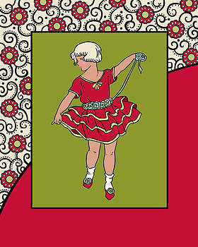 Nancy Lorene - CAMMIE in Red and Olive