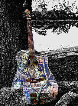 Camo Guitar by Kristie  Bonnewell