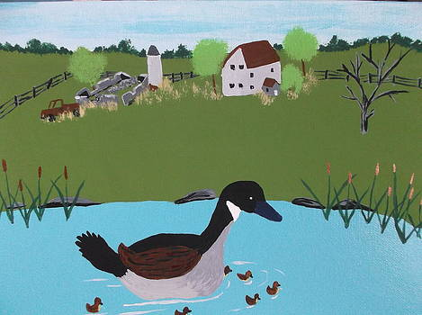 Canada Goose by Lois D  Psutka