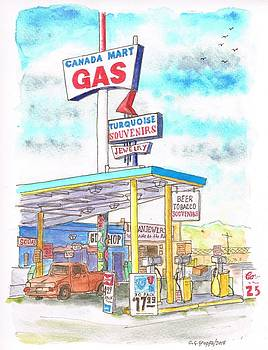 Canada Mart Gas in Route 66, Kingman, Arizona by Carlos G Groppa