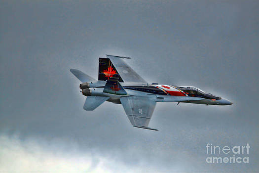 Canadian CF18 Hornet fly by by Cathy Beharriell