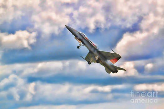 Canadian CF18 Hornet Taking Flight  by Cathy  Beharriell