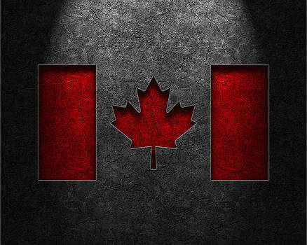 Brian Carson - Canadian Flag Stone Texture