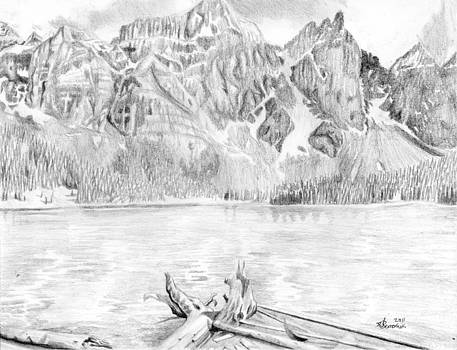 Canadian Mountain and Lake by Kayleigh Semeniuk