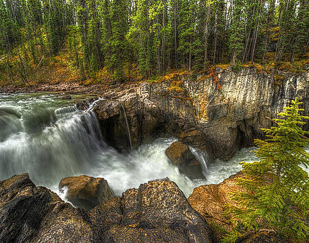 Canadian Wilderness Waterfall by Donna Caplinger