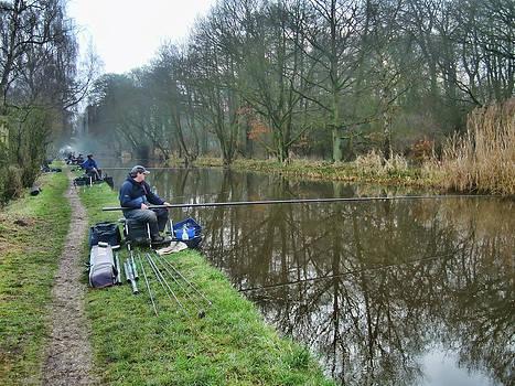 Canal Fishing by Priit Einbaum