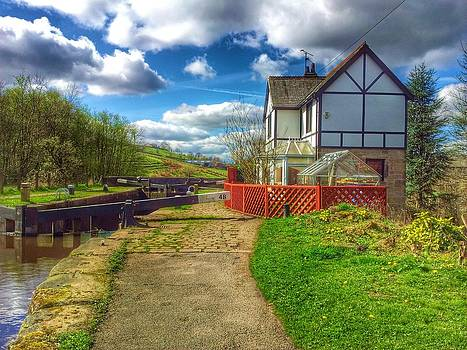 Canal lock and house by Paul Fox