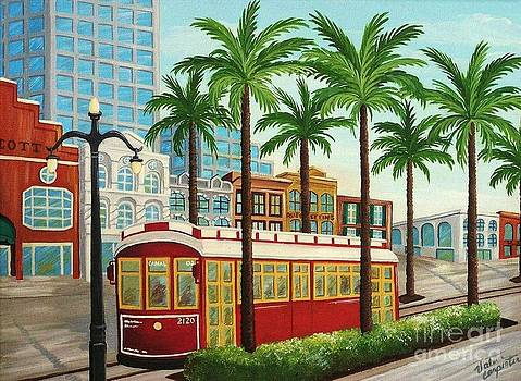 Canal Street Car Line I I by Valerie Carpenter
