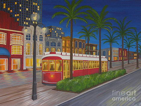 Canal Street Car Line by Valerie Carpenter