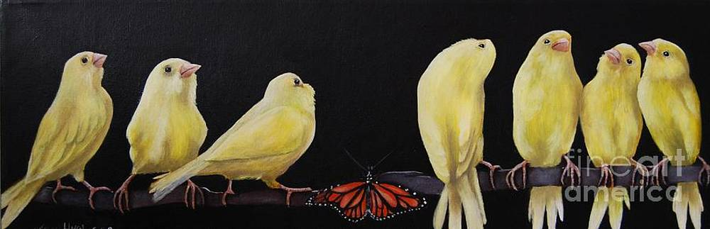 Canary and Butterfly by Mary Hughes