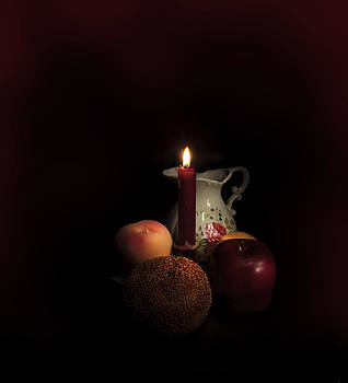 Candle and Pitcher by Cecil Fuselier