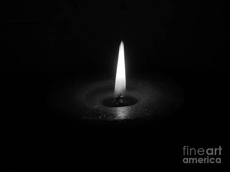 Candle b-w by Stefano Piccini