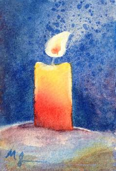 Candle Glow by Marilyn Jacobson