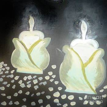 Candles On The Table by Marie Bulger