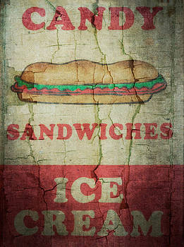Ray Van Gundy - Candy Sandwiches and Ice Cream Sign