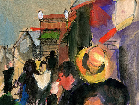 Cannery Row Color Sketch by Donna Crosby
