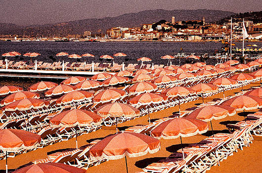 Dennis Cox WorldViews - Cannes Umbrellas