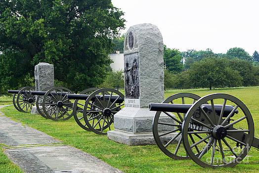 Cannons At Gettysburg by J Jaiam