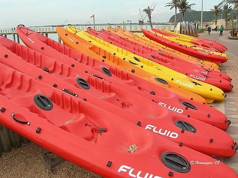 Canoe at Durban by Hemu Aggarwal