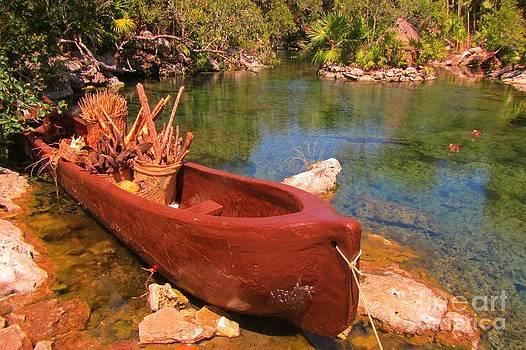 John Malone - Canoe in Tropical Lagoon