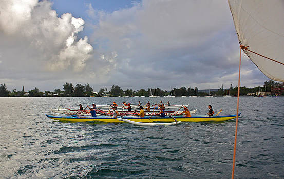 Venetia Featherstone-Witty - Canoe Racing on Hilo Bay