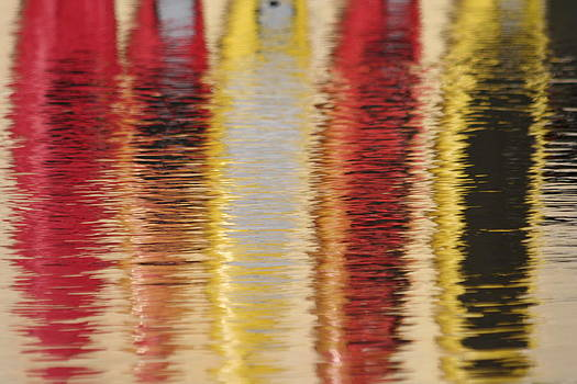 Canoe Reflections by Carolyn Reinhart