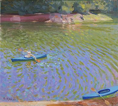 Canoes at the Lac de Pannaciere  by Ben Rikken