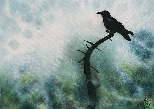 Robin Street-Morris - Canyon Denizen or Torrey Pine Remains with Raven