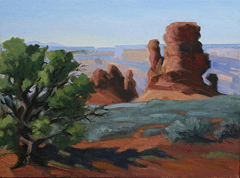 Canyon Sentinals-Arches Nat. Park by Julia Grundmeier