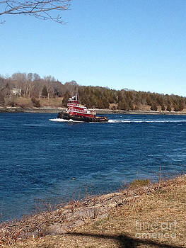 Cape Cod Canal Tugboat by Lisa  Marie Germaine