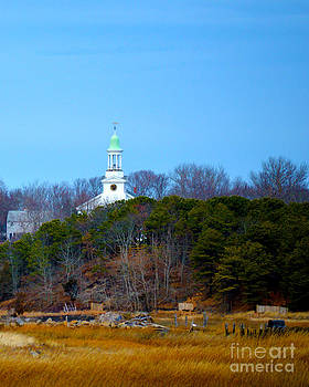 Cape Cod Church on the Hill by Phil Hawn