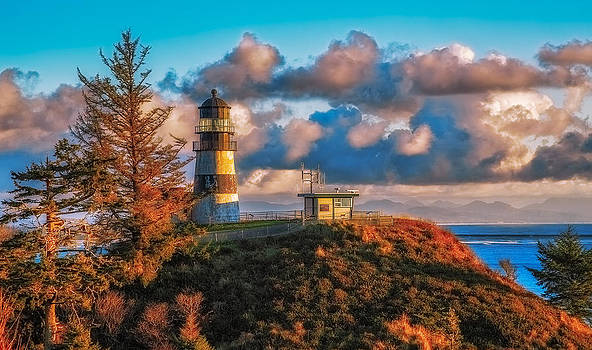Cape Disappointment Light House by James Heckt