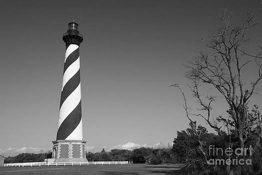 Jill Lang - Cape Hatteras Lighthouse in Black and White