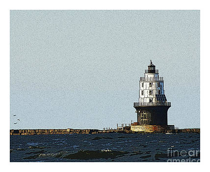 Cape Henlopen lighthouse by Ronald Williamson