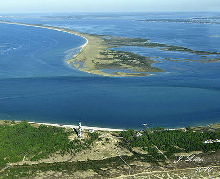 Cape Lookout Looking down Shakleford Banks by James Lewis