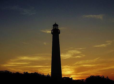 Cape May Lighthouse at Sunset by Ed Sweeney