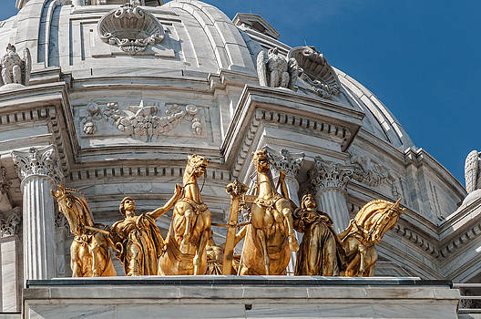 Capitol Golden Horses by Lonnie Paulson