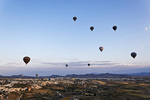 Kantilal Patel - Cappadocia landscape filled with hot air balloons
