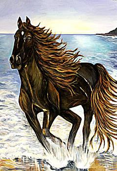 Caprice The running Horse by Helene Khoury Nassif