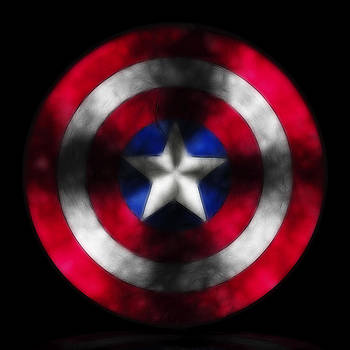 Captain America Shield digital painting by Costinel Floricel