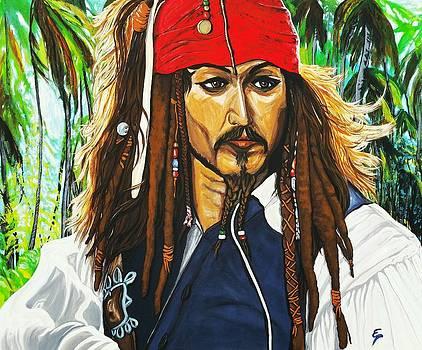 Captain Jack Sparrow by Edward Pebworth