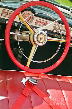 David Zanzinger - Car Interior Red Seats and Steering Wheel