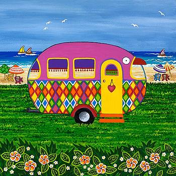 Caravan Holiday Mary-Jane by Lisa Frances Judd