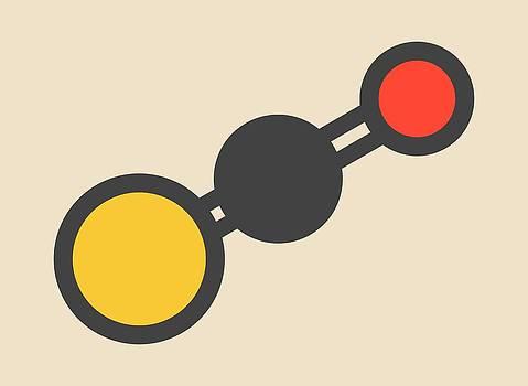 Carbonylsulfide Molecule by Molekuul