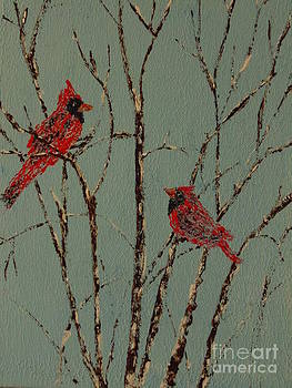 Cardinal Conversation by Ginny Youngblood