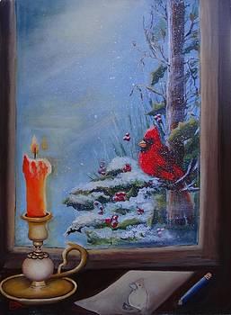 Cardinal Pose by Fineartist Ellen