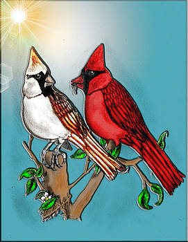 Cardinals in Love by Gerald Griffin