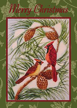 Ruth Soller - Cardinals in Pine card