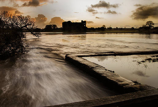 Carew Castle and lake by Simon West