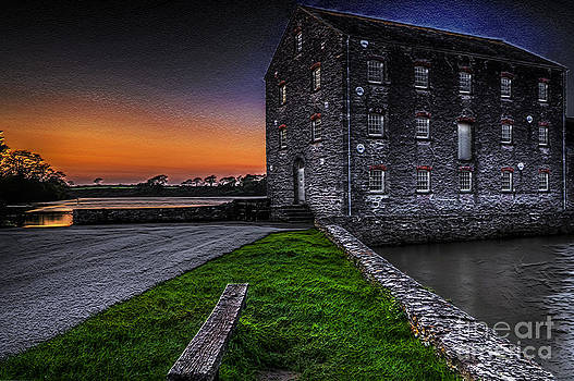 Steve Purnell - Carew Tidal Mill At Sunset Textured